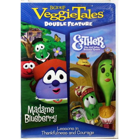 VeggieTales Madame Blueberry & Esther Double Feature 2 DVD Thankful Courage