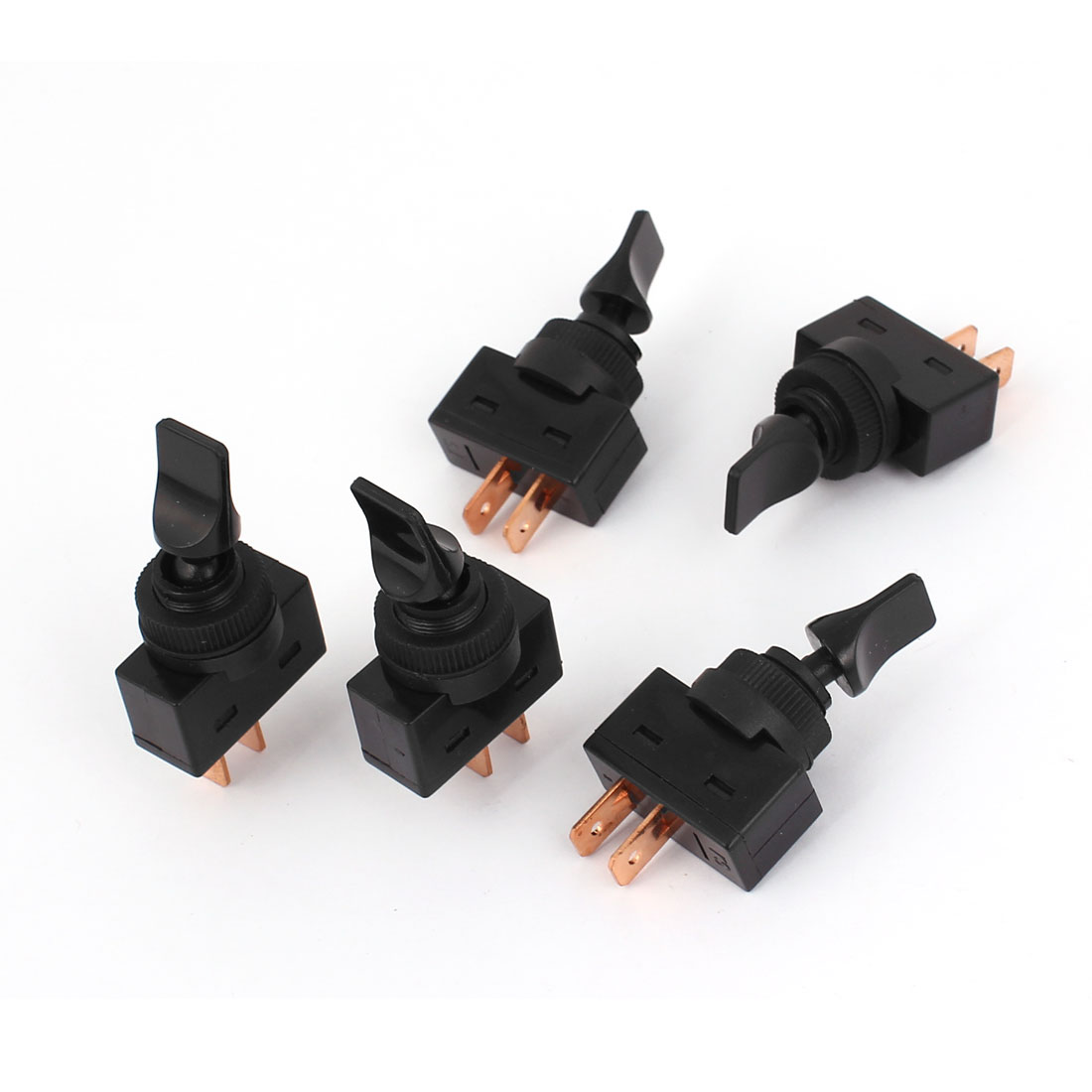 DC 12V 20A Car Automotive 2 Pin 2 Position On/Off Toggle Switch 5 Pcs