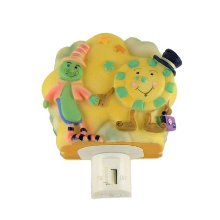Decorative Spoon And Plate Holding Hands Hand Painted Night Light