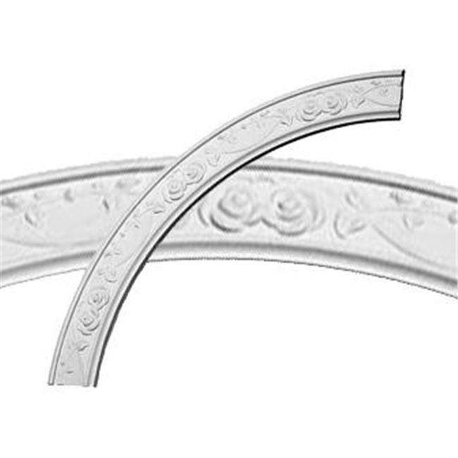 Ekena Millwork CR41FL 41 in. OD x 34.25 in. ID x 3.38 in. W x .75 in. P Architectural Accents - Flower Ceiling Ring - image 1 of 1