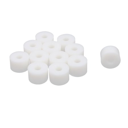 Round Plastic Column Standoff Support Spacer Washer White 15x10mm 12pcs