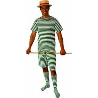 Alexander Costume 18-025-GR Old Fashion Bathing Suit Mens - 1X, Green