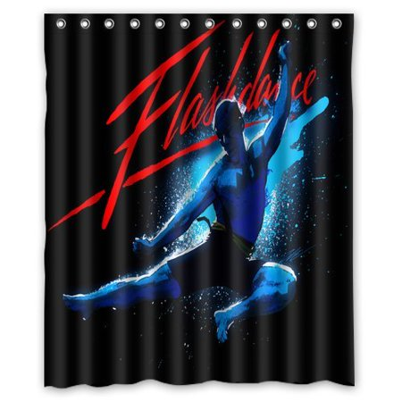 DEYOU Flash Dance Shower Curtain Polyester Fabric Bathroom Size 60x72 Inches