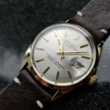 ROLEX Men's Oyster Perpetual Date 1550 Gold-Capped Automatic, c.1973 Swiss LV713 ()