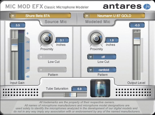 Antares Mic Mod EFX Microphone Modeling Software Plug In by Antares