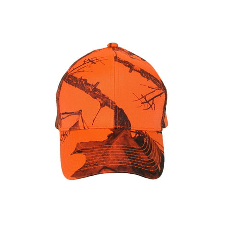 Size one size Men's Mossy Oak Break Up Blaze Orange Baseball Hat, Break Up Blaze Orange - Orange Baseball Hat
