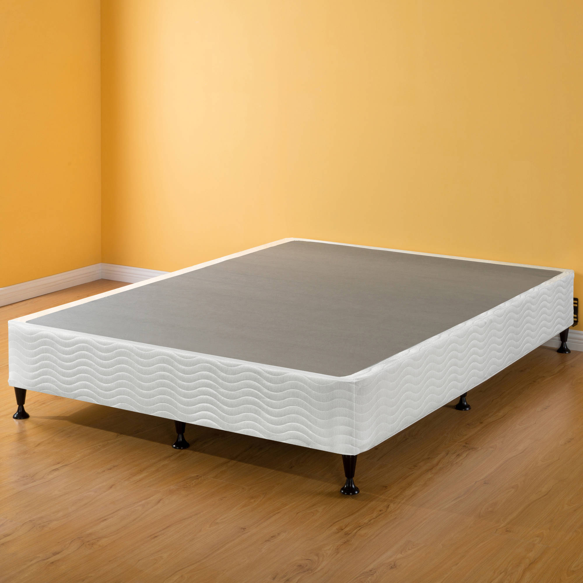 platform full vs use mattress king box of bedroom large you frame boxspring on without and can bed spring size wood