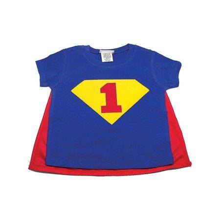 Reflectionz Red Blue Super Boy Cape Birthday T Shirt Boys 12M 3T