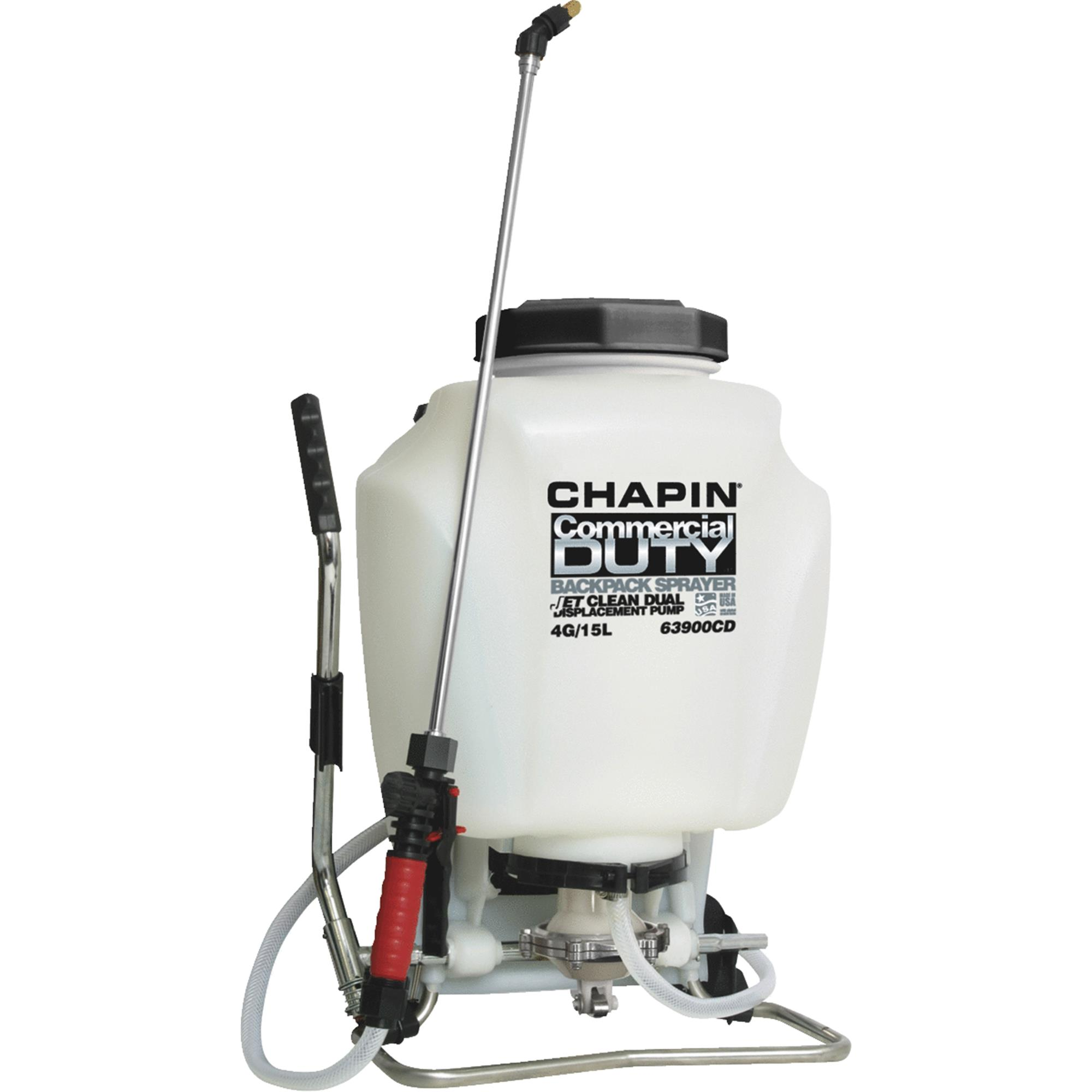 Chapin 63900 4-Gallon JetClean Self Cleaning Wide Mouth Backpack Sprayer