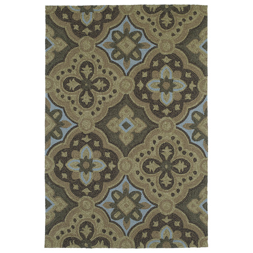 Kaleen Habitat 21 Courtyard Mocha Floral Indoor/Outdoor Area Rug
