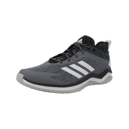 Adidas Men's Speed Trainer 4 Grey / Crystal White Core Black Ankle-High Baseball Shoe -