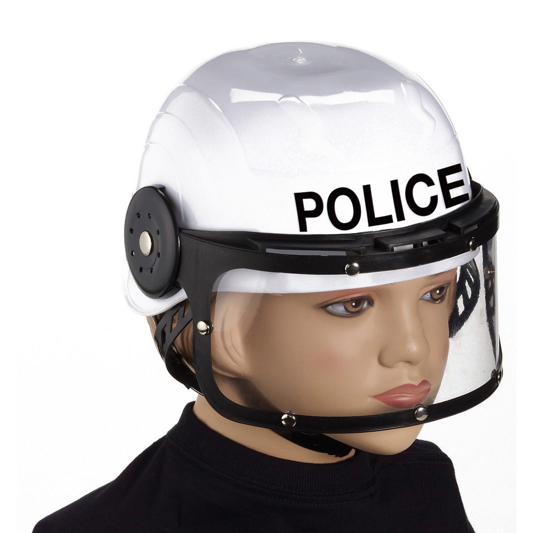 Forum Halloween Combat Child Police Helmet Costume Hat, White, One Size