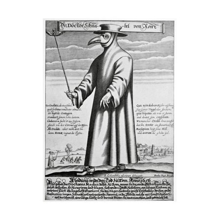 Plague Doctor, 17th Century Artwork Print Wall Art By Science Photo Library