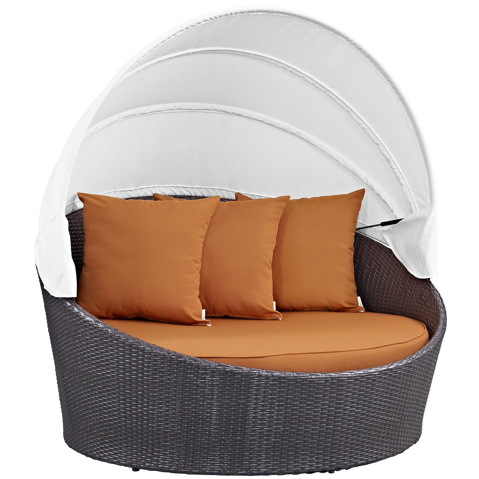 Modway Convene Canopy Outdoor Patio Daybed, Multiple Colors