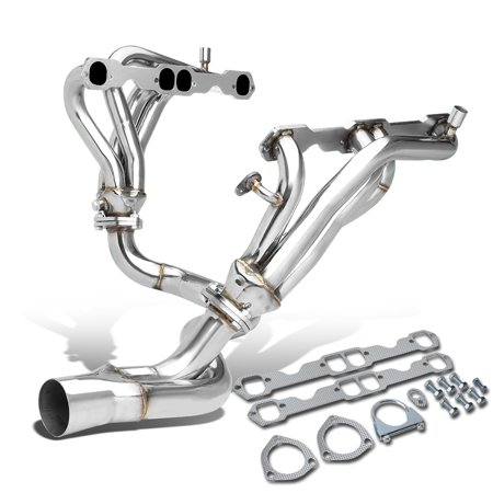 For 1994 to 1995 Chevy Camaro / Pontiac Firebird 5.7L V8 2 -PC 8 -2 -1 Stainless Steel Exhaust Header / Manifold + Y -Pipe