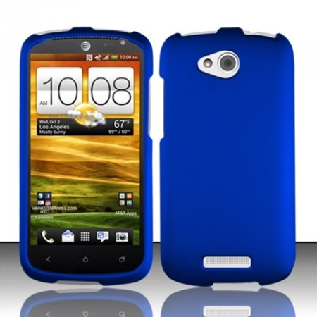 Insten Blue Rubberized Hard Cover Case For HTC One VX