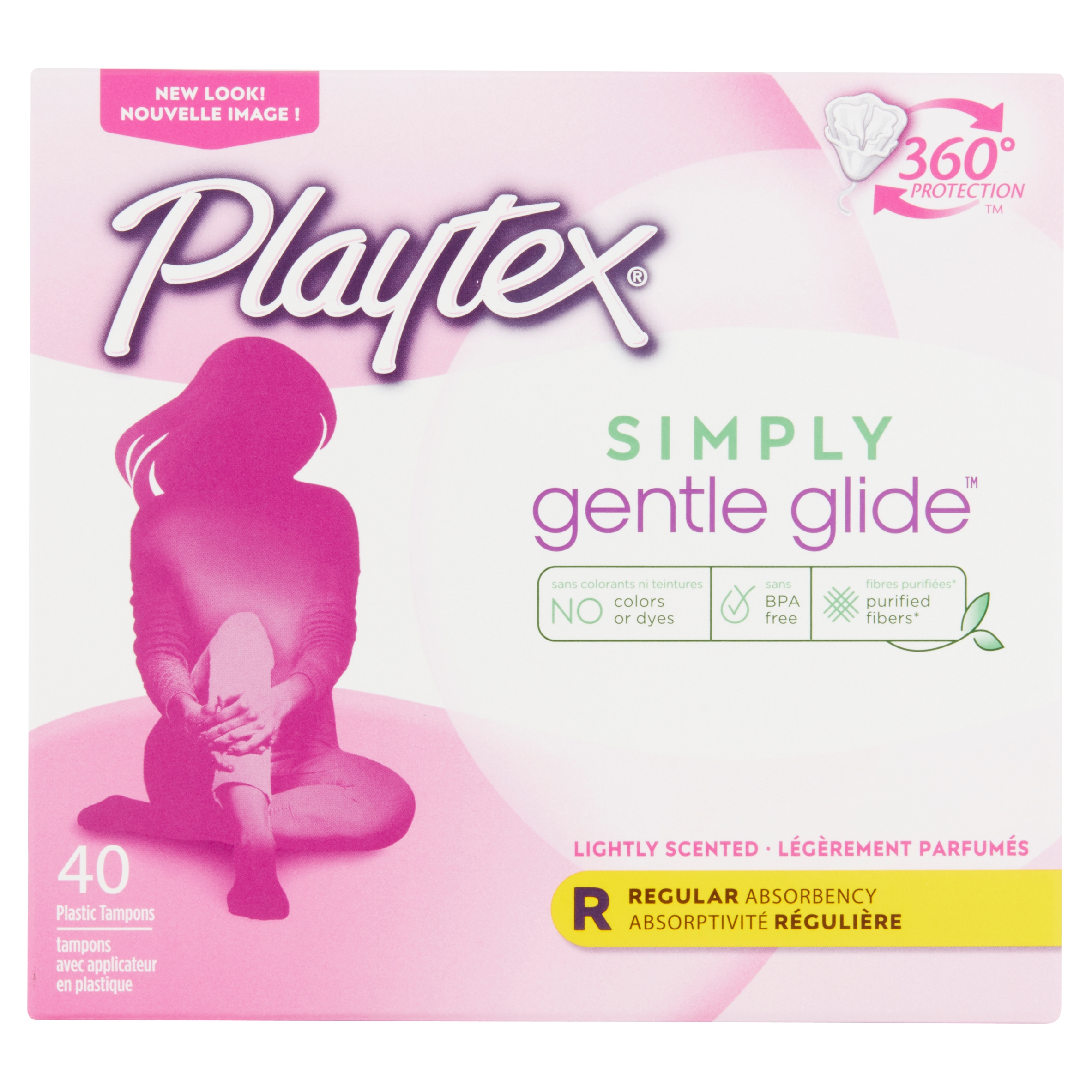 Playtex Simply Gentle Glide Scented Tampons, Regular Absorbency, 40 Ct