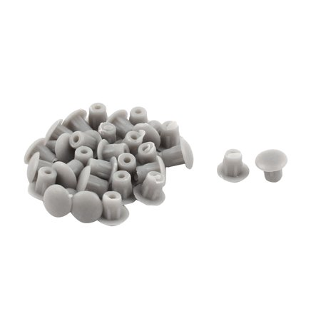 Furniture Table Plastic Pipe End Hole Drilling Cover Plugs Insert Gray 5mm 30pcs