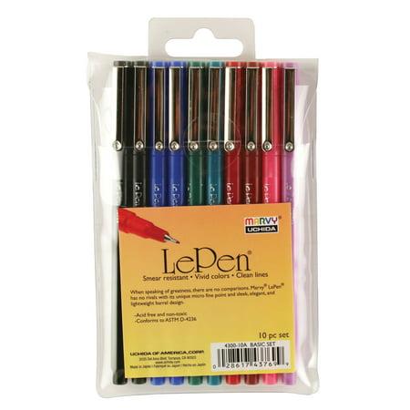 Le Pens .03mm Point 10/Pkg-Assorted Colors - image 1 de 1