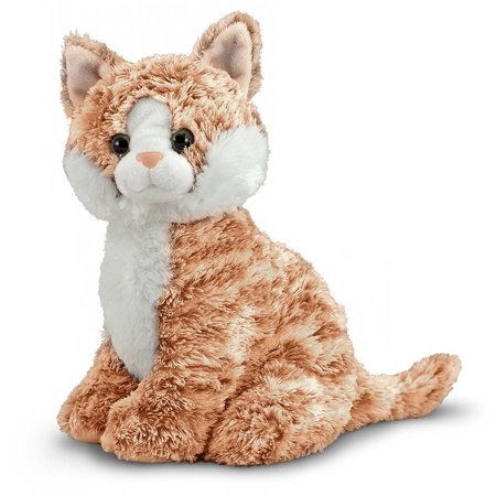 Melissa & Doug Pumpkin Tabby - Stuffed Animal Cat Doug Puzzles Stuffed Animals