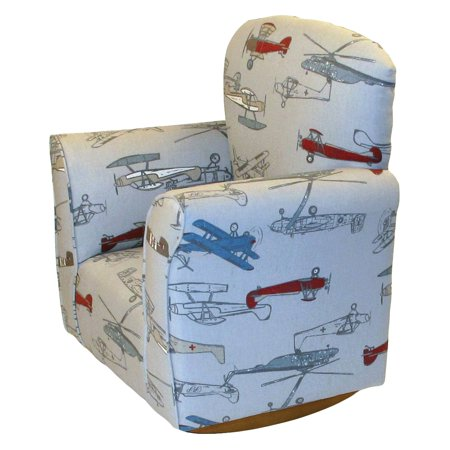 Brighton Pattern - Brighton Home Toddler Rocker - Airplane