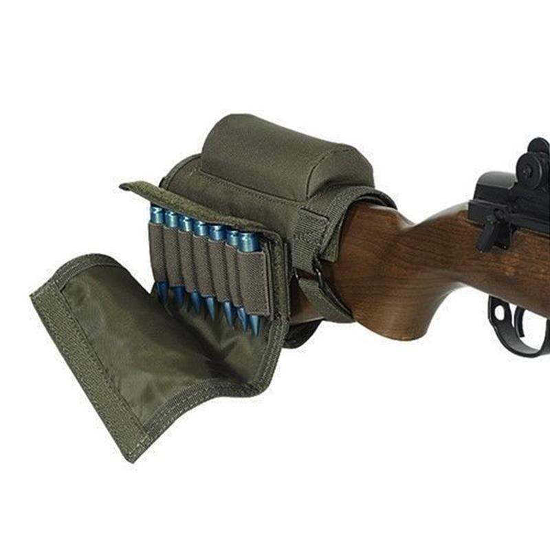 Tactical Shotgun Rifle Buttstock Shell Holster Stock Cover Cheek Rest Pouch