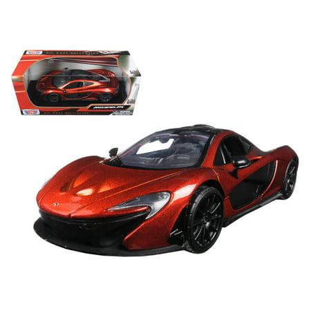 McLaren P1 Orange 1/24 Diecast Model Car by Motormax (1 18 Mclaren P1 Model Car)