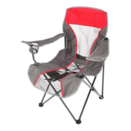 38 6 kelsyus portable fold up backpack quad tailgate camping chair metallic red - Backpack chairs walmart ...