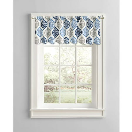 Better Homes & Gardens Damask Ogee Window Curtain Valance