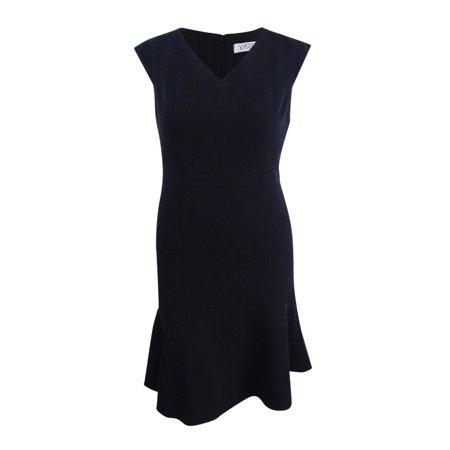 Kasper Women's Stretch Crepe Fit & Flare Dress (10, Black) Black Stretch Crepe