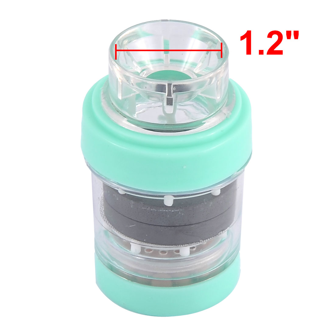 Plastic Tap Home Water Purifying Faucet Magnetic Filter Sky Blue 1.2 Inch Dia - image 1 de 3