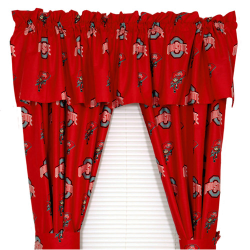 College Covers NCAA Ohio State Team Curtain Panel Set (Set of 2)