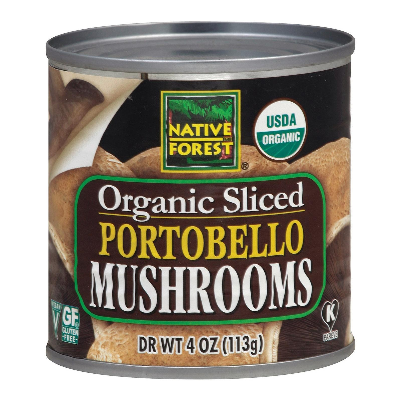 Native Forest Organic Sliced Portobello - Mushrooms - Pack of 12 - 4 Oz.
