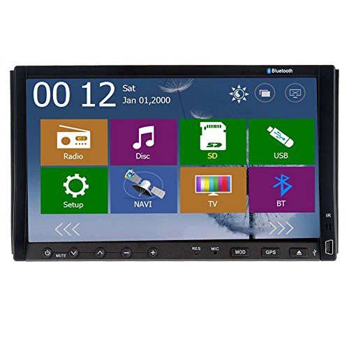Newest Car Stereo 7 Double 2 DIN Car DVD Player GPS Navigation Bluetooth Digital High Def Touch Screen Car... by Pupug