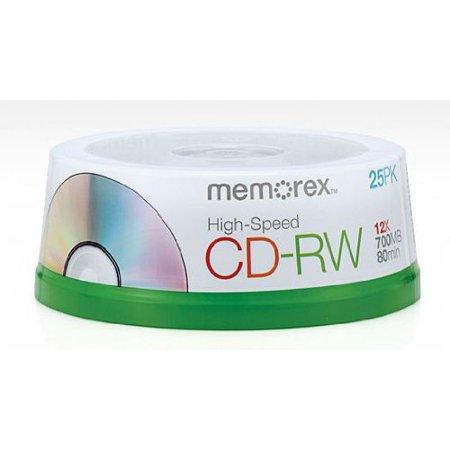 80 Minute CD-RW 4x-12x High Speed 25 Pack SpindleHigh-speed writing - between 4x-12x speeds By Memorex