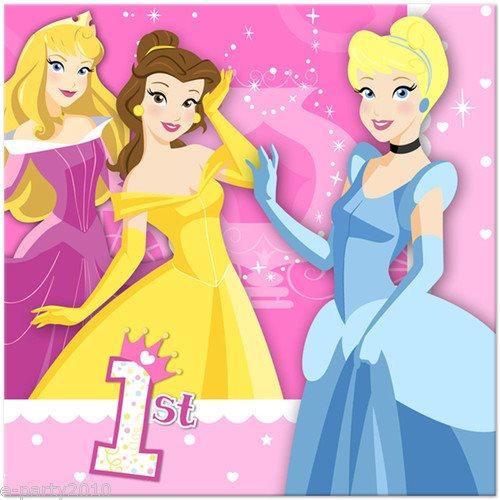 Disney Princess 1st Birthday Lunch Napkins (16ct)
