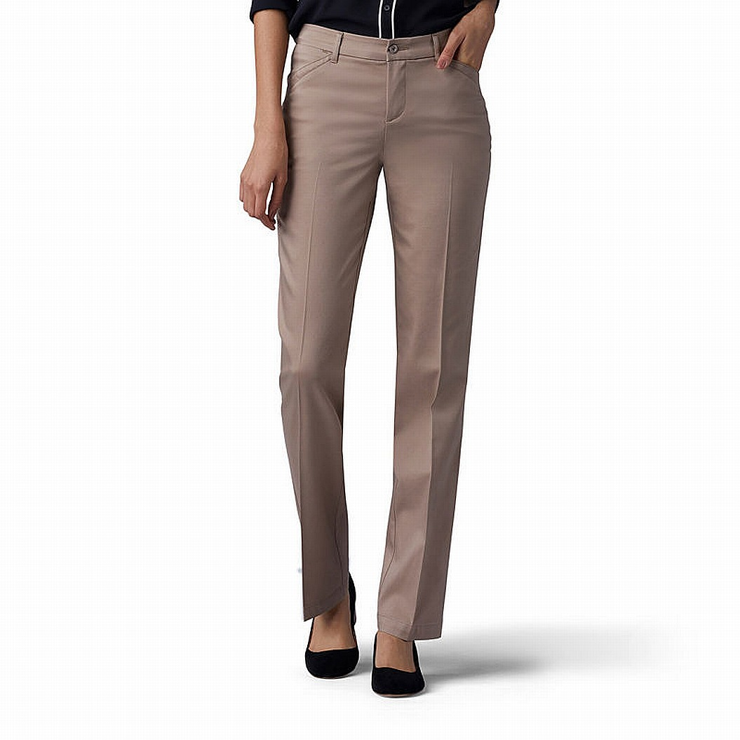 LEE Womens Petite Flex Motion Straight Leg Pant