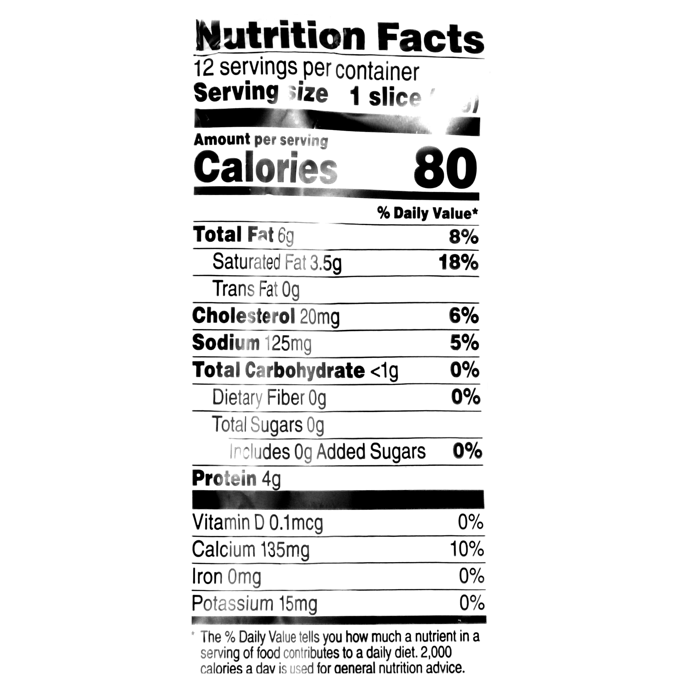 provolone cheese nutrition facts
