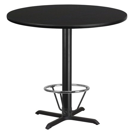 - Flash Furniture 42 in. Round Pub Table with Foot Ring