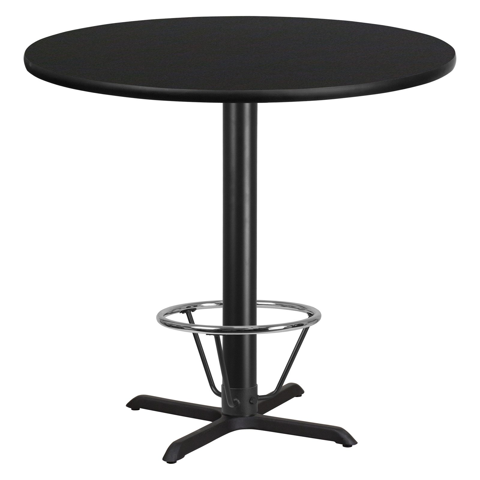 Flash Furniture 42 in. Round Pub Table with Foot Ring