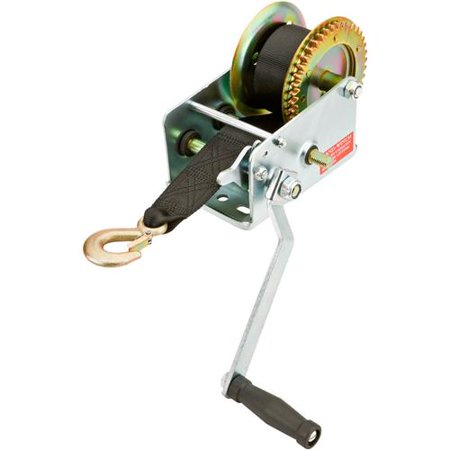 Grizzly Industrial T26858 Hand Winch with Nylon Strap, 2000lb Capacity