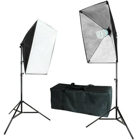 "Loadstone Studio Photography Softbox Continuous Lighting System Equipment Light Kit, Soft Box 20"" x 28"" with Bulb Socket, Photo Model Portrait Shooting Box, Photo Studio, WMLS4385"