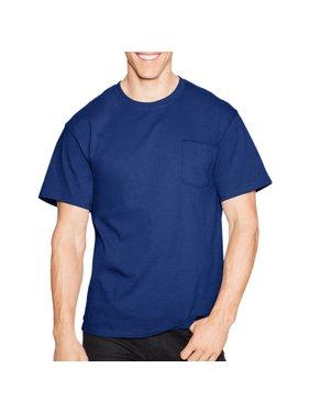0eb82e456df Product Image Men s Tagless Crew Neck Short Sleeve Pocket Tshirt