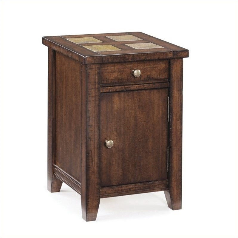 Magnussen Allister Wood Square Accent Table in Cinnamon