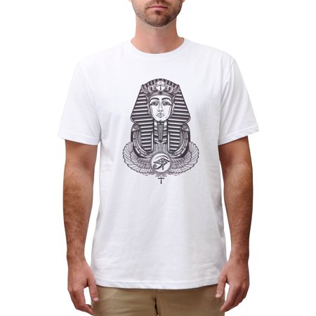 Tattoo Winged Ankh Print Cotton Short Sleeves Round Neck Men T Shirt Mts 00 3Xl