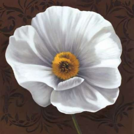 White Poppies I Canvas Art - Jordan Gray (24 x 24)](Gray And White Jordans)