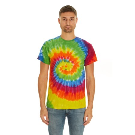 85f398ac Krazy Tees - Tie Dye Style T-Shirts for Men and Women - Multi Color Tops by  Krazy Tees - Walmart.com