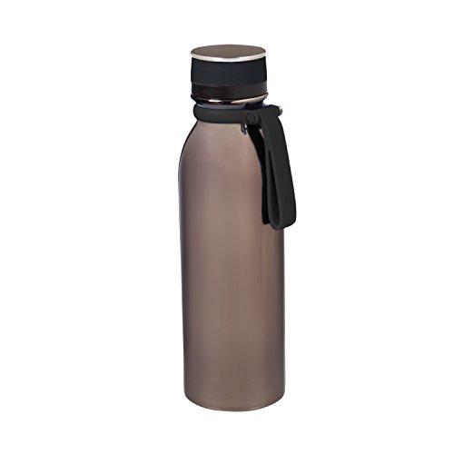 Cypress Home Gunmetal Stainless Steel Water Bottle, 20 ounces - image 1 de 1