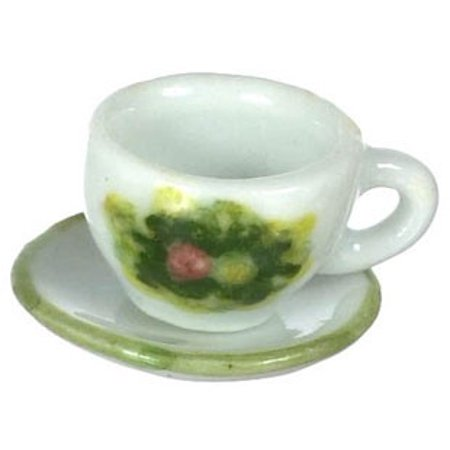 Dollhouse Cup & Saucer, Spring