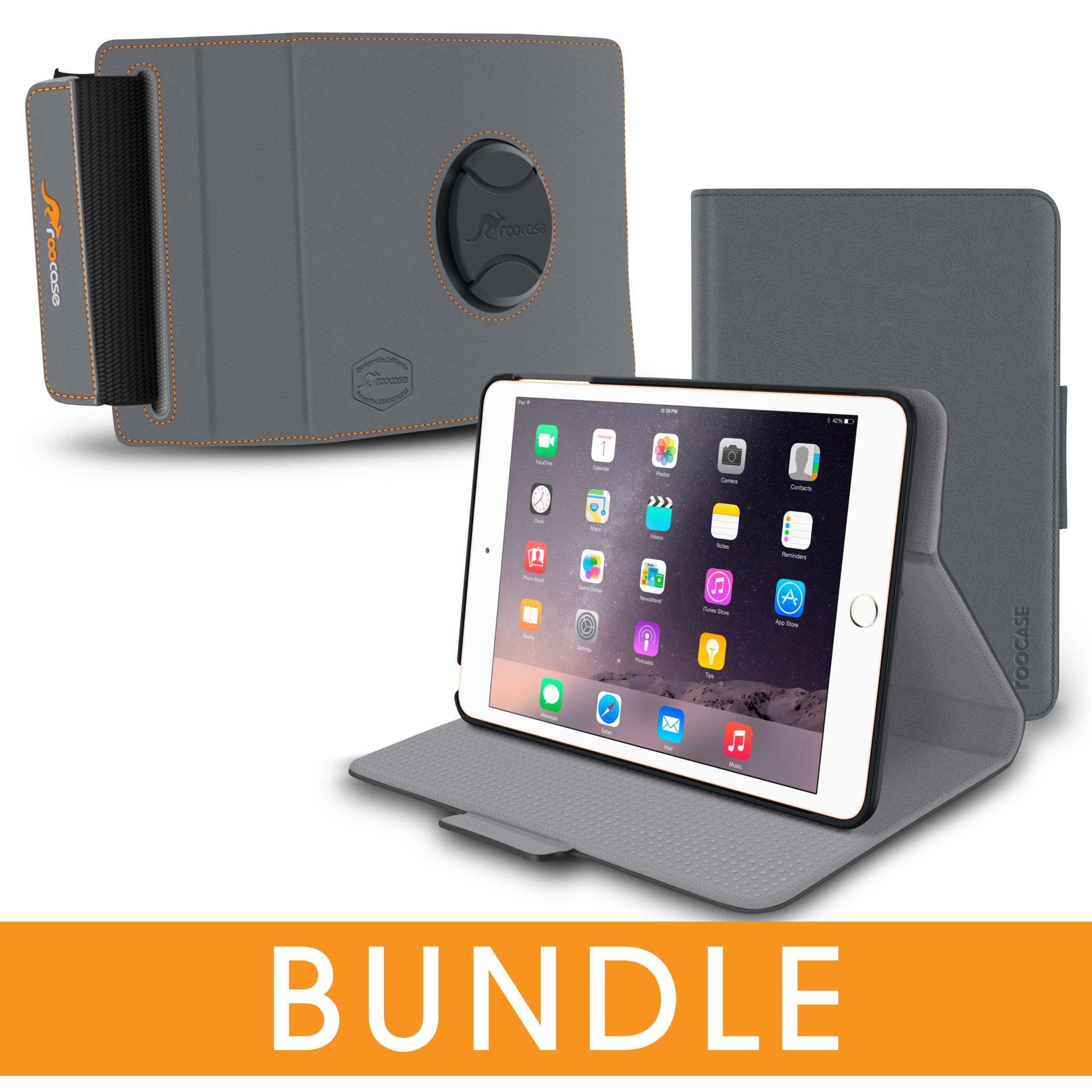 iPad Mini 3 2 1 Case, rooCASE Orb Folio 360 Rotating Leather Case with Car Mount Attachment for Apple iPad Mini 3 2 1